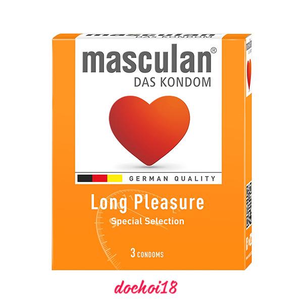 bao cao su masculan long pleasure 3 cái