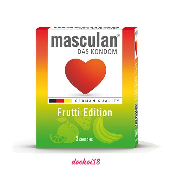 bao cao su masculan frutti edition 3 cái
