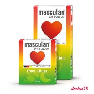 bao cao su masculan frutti edition 3 mùi 3 màu